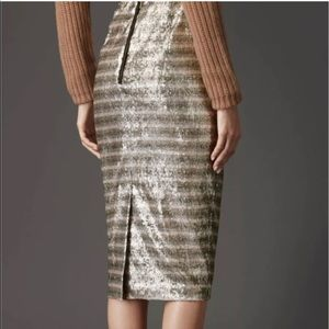 BURBERRY London sequined pencil skirt size 8